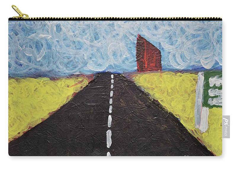 Abstractart Carry-all Pouch featuring the painting The Drive by Aj Watson