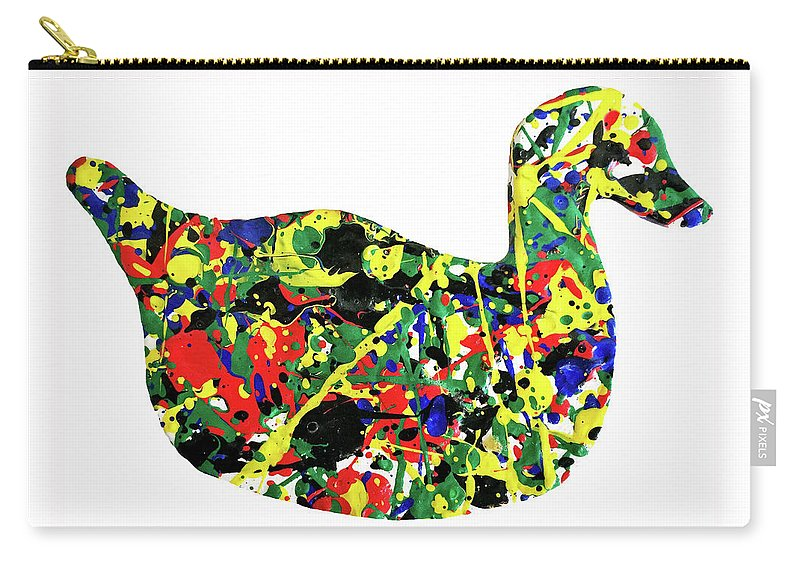 Abstract Carry-all Pouch featuring the painting The Duck by Ducksy