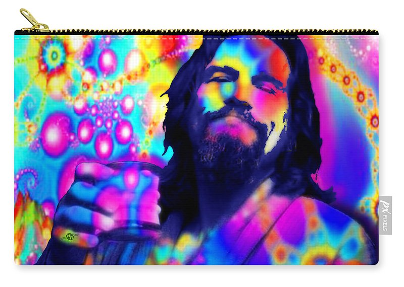 Jeff Bridges Carry-all Pouch featuring the painting The Dude The Big Lebowski Jeff Bridges by Tony Rubino