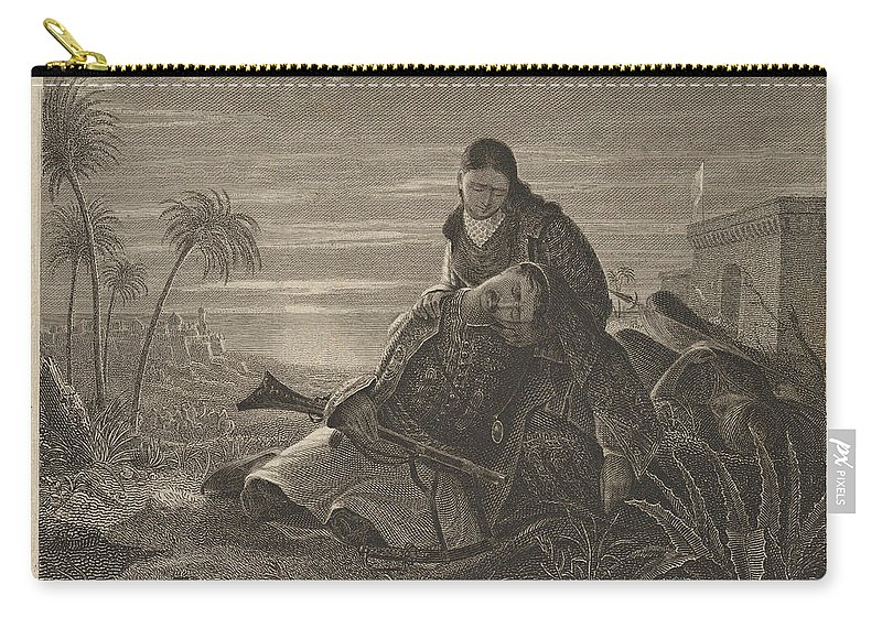 Asher Brown Durand Carry-all Pouch featuring the drawing The Dying Greek by Asher Brown Durand