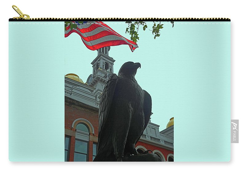 Sevierville Carry-all Pouch featuring the photograph The Eagle 3 by Ron Kandt