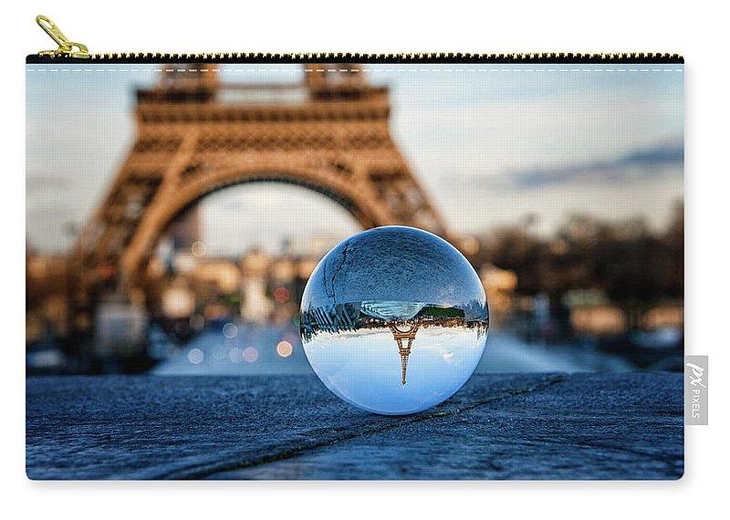 Paris Carry-all Pouch featuring the photograph The Eiffeltower by Jane Svensson