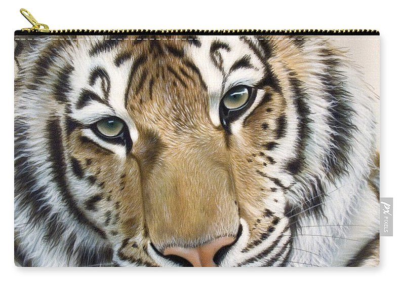 Acrylic Carry-all Pouch featuring the painting The Embrace by Sandi Baker
