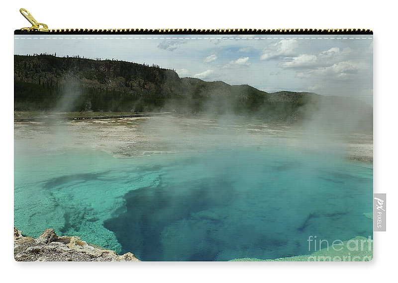 Park Carry-all Pouch featuring the photograph The Emerald Pool Colors by Christiane Schulze Art And Photography