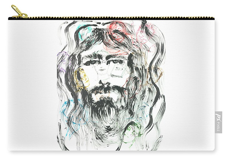 Jesus Carry-all Pouch featuring the painting The Emotions Of Jesus by Nadine Rippelmeyer