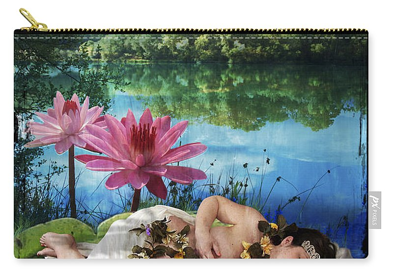 Divine Carry-all Pouch featuring the digital art The Empress by Tammy Wetzel