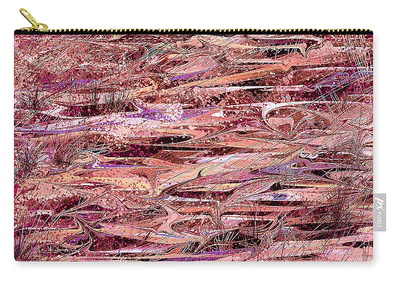 Abstract Carry-all Pouch featuring the digital art The Enchanted Marsh by Rachel Christine Nowicki