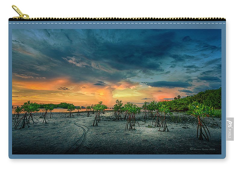 Florida Carry-all Pouch featuring the photograph The Endless Trail by Marvin Spates