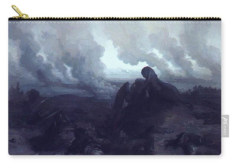 The Carry-all Pouch featuring the painting The Enigma 1871 by Dore Gustave