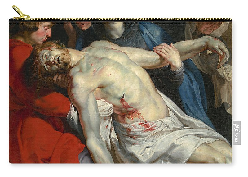 Peter Paul Rubens Carry-all Pouch featuring the painting The Entombment by Peter Paul Rubens