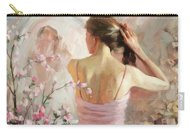 Woman Carry-all Pouch featuring the painting The Evening Ahead by Steve Henderson
