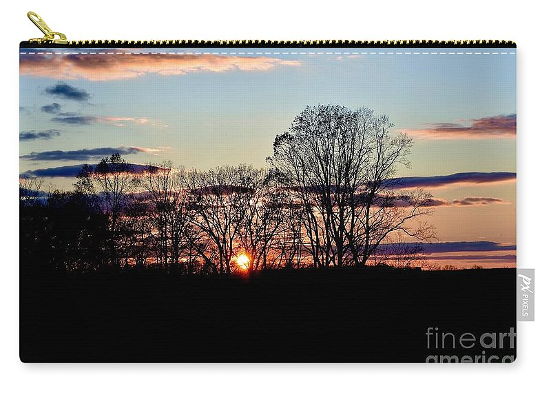 Amazing Sunset Carry-all Pouch featuring the photograph The Evening Sky by Jeramey Lende