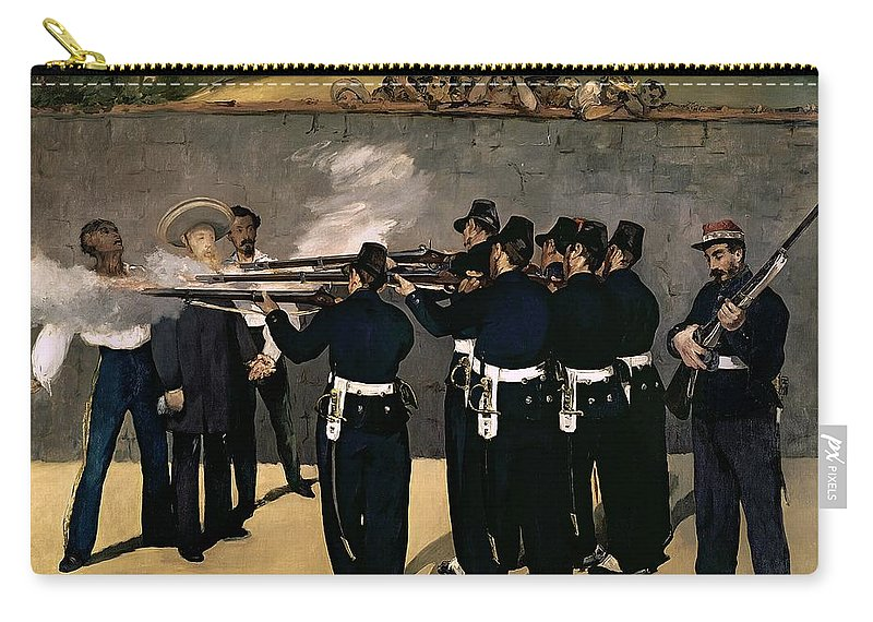 Manet Carry-all Pouch featuring the painting The Execution Of The Emperor Maximilian by Edouard Manet
