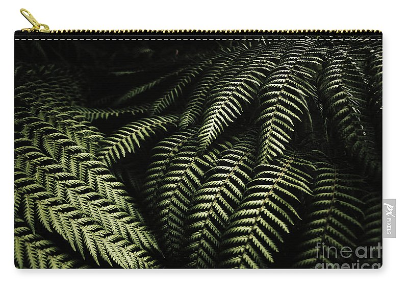 Rainforest Carry-all Pouch featuring the photograph The Exotic Dark Jungle by Jorgo Photography - Wall Art Gallery