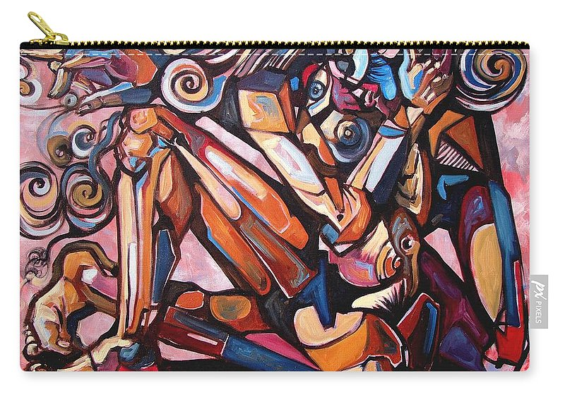 Surrealism Carry-all Pouch featuring the painting The Expressive Muse by Darwin Leon