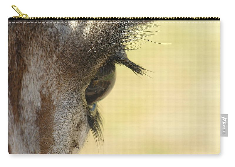 Giraffe Carry-all Pouch featuring the photograph The Eyes Have It by Diane Greco-Lesser