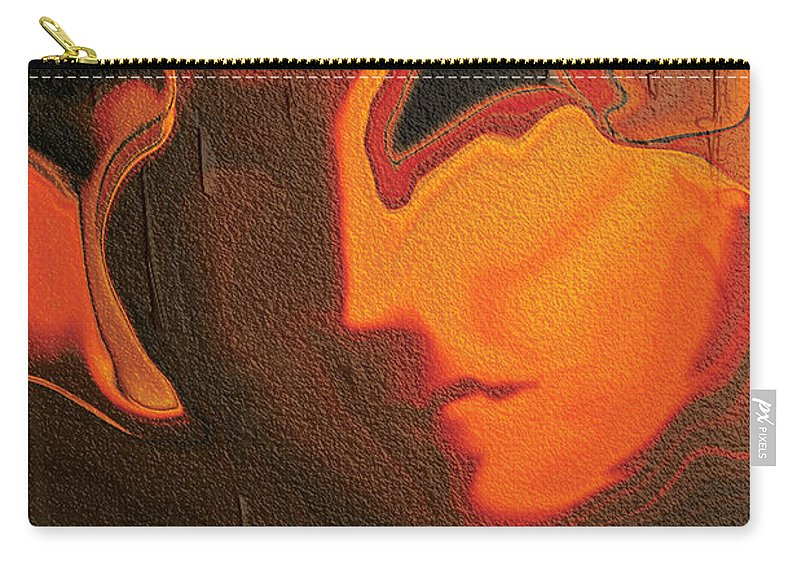 Abstract Carry-all Pouch featuring the digital art The Face 2 by Rabi Khan