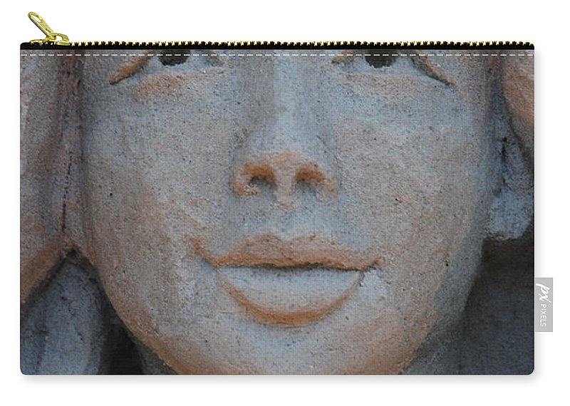 Sand Carry-all Pouch featuring the photograph The Face by Rob Hans