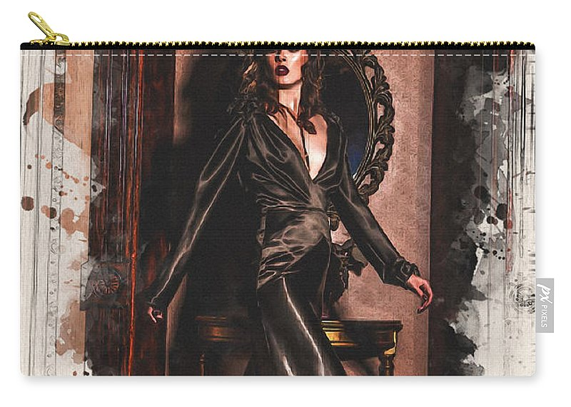 Home Art Carry-all Pouch featuring the digital art The Fairy Godmother by Don Kuing