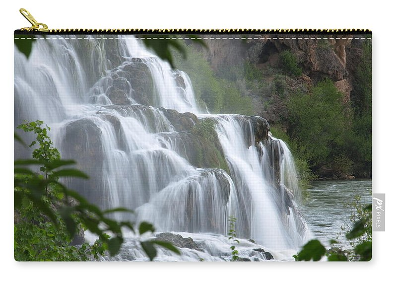 Water Carry-all Pouch featuring the photograph The Falls Of Fall Creek by DeeLon Merritt