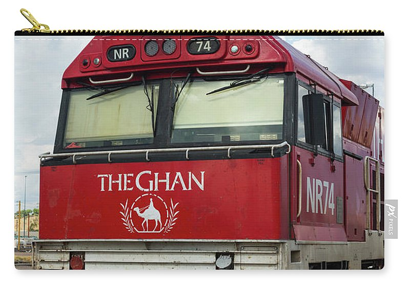 2017 Carry-all Pouch featuring the photograph The Famed Ghan Train by Andrew Michael
