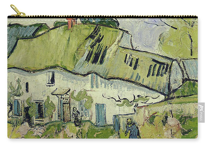 The Farm In Summer Carry-all Pouch featuring the painting The Farm In Summer by Vincent van Gogh