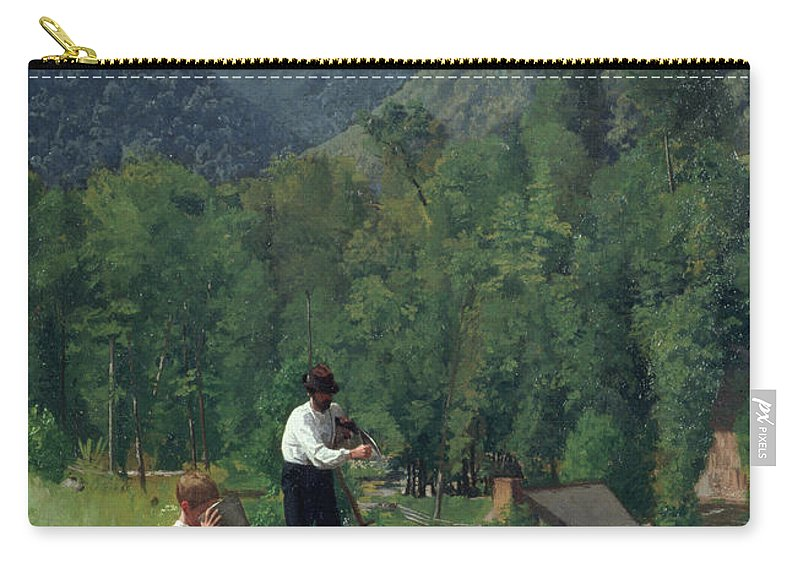 Farm Carry-all Pouch featuring the painting The Farmer And His Son At Harvesting by Thomas Pollock Anschutz