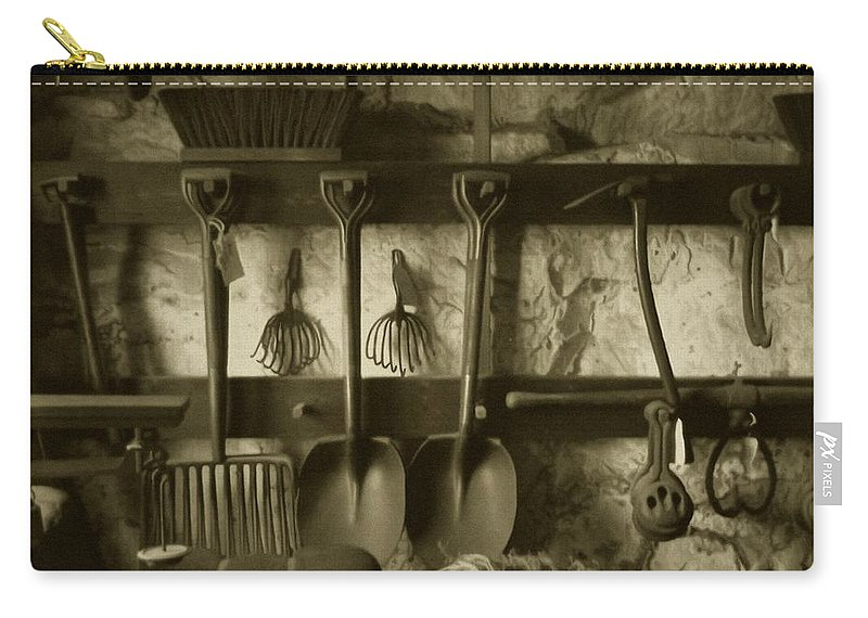 Farming Carry-all Pouch featuring the photograph The Farmer's Toolshed by RC DeWinter