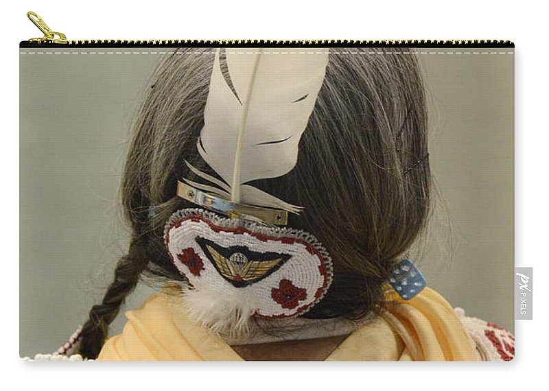Pow Wow Carry-all Pouch featuring the photograph Pow Wow The Feather by Bob Christopher