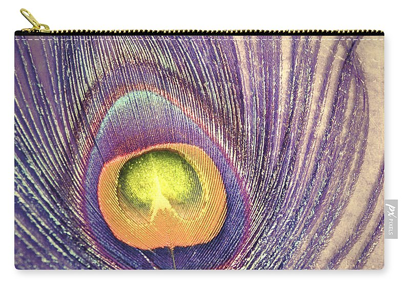 Feather Carry-all Pouch featuring the photograph The Feather In Colour by Tara Turner