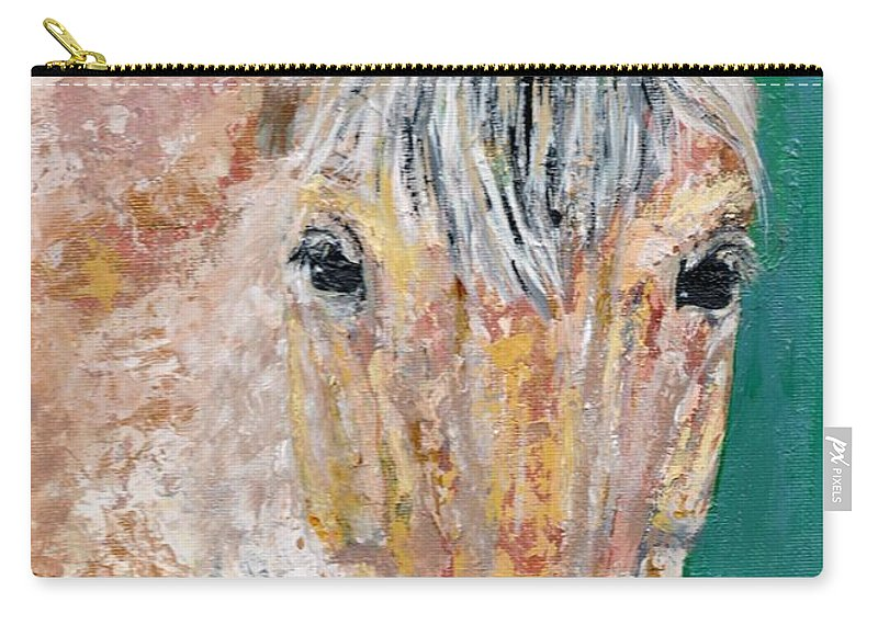 Fijord Horse Carry-all Pouch featuring the painting The Fijord by Frances Marino