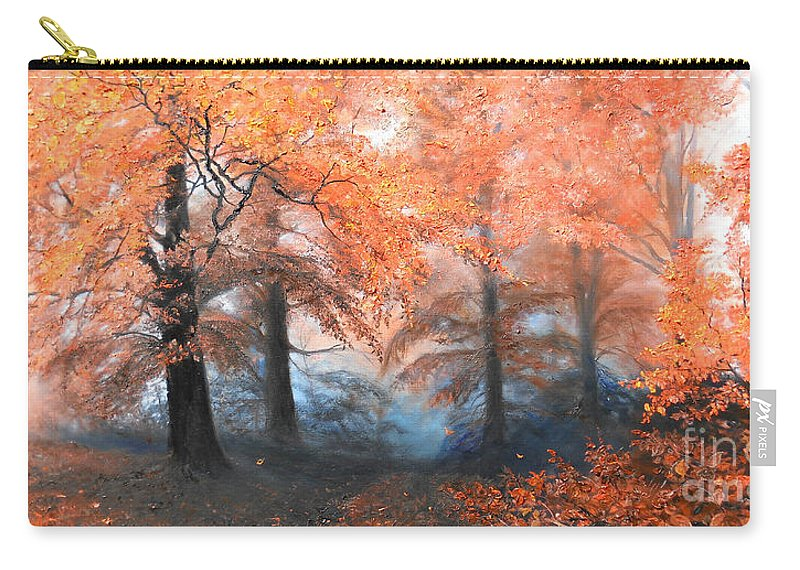 Autumn Carry-all Pouch featuring the painting The Fire by Sorin Apostolescu