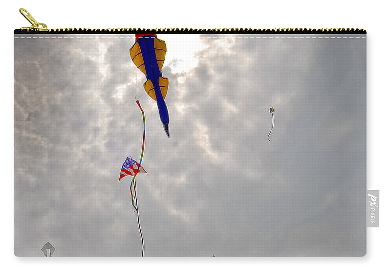 Fish Carry-all Pouch featuring the photograph The Fish Fly Over The Jockeys' Ridge by Robert Ponzoni
