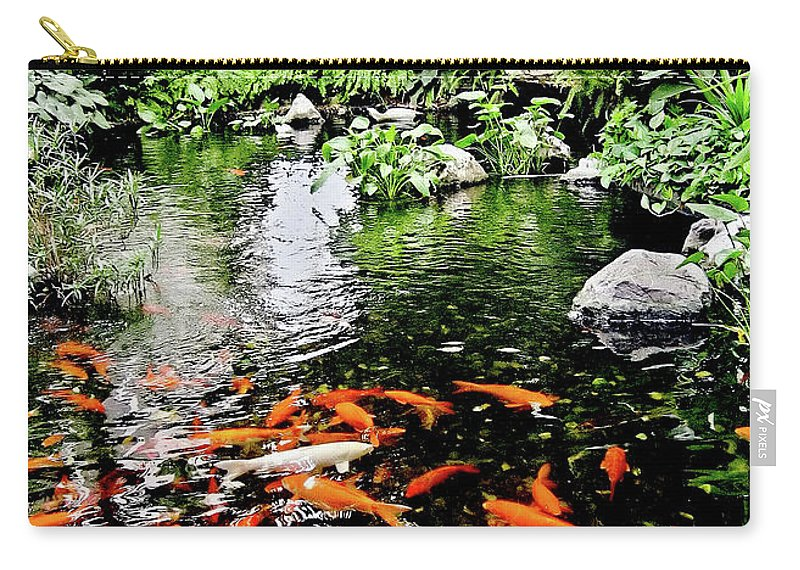 Animal Carry-all Pouch featuring the photograph The Fish Pond At Thailand by Clement Tsang