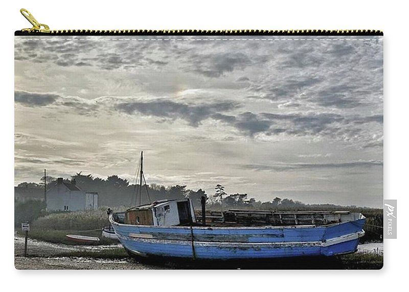Beautiful Carry-all Pouch featuring the photograph The Fixer-upper, Brancaster Staithe by John Edwards