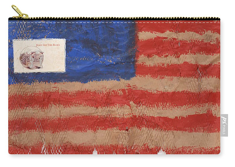 Flag Carry-all Pouch featuring the mixed media The Flag by Jaime Becker
