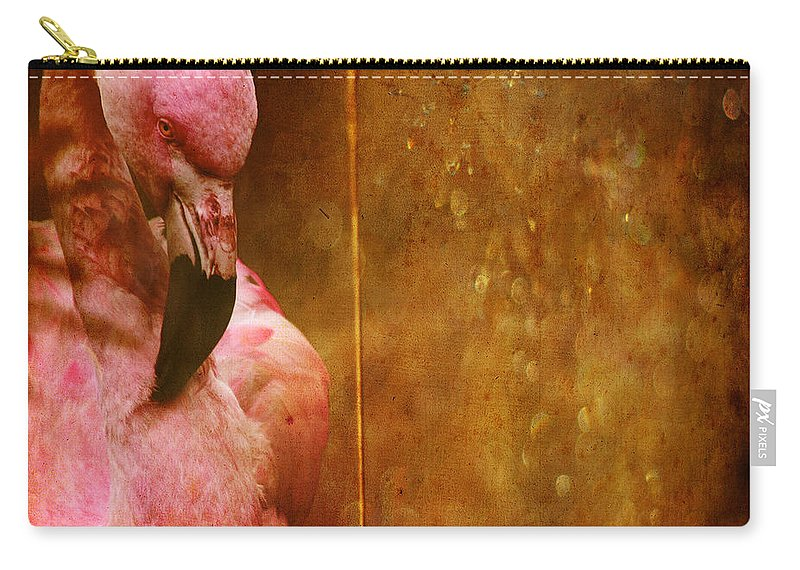 Flamingo Carry-all Pouch featuring the photograph The Flamingo by Angel Tarantella