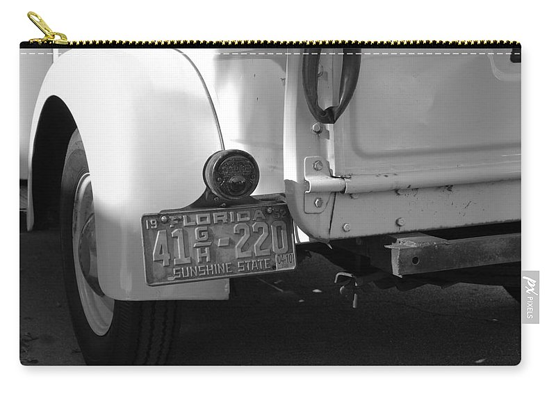 Black And White Carry-all Pouch featuring the photograph The Florida Dodge by Rob Hans