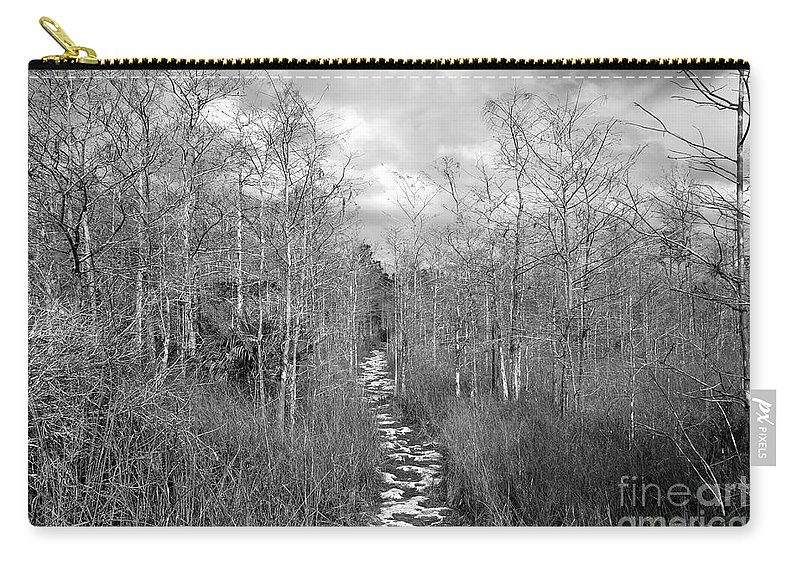 Everglades Carry-all Pouch featuring the photograph The Florida Trail by David Lee Thompson