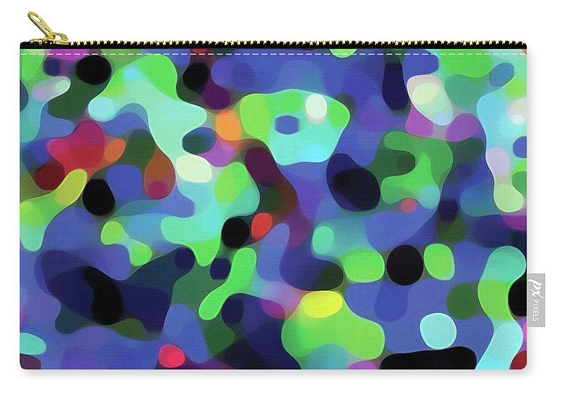 Abstract Carry-all Pouch featuring the digital art The Flow Of The Dancers by Frodomixa Studio