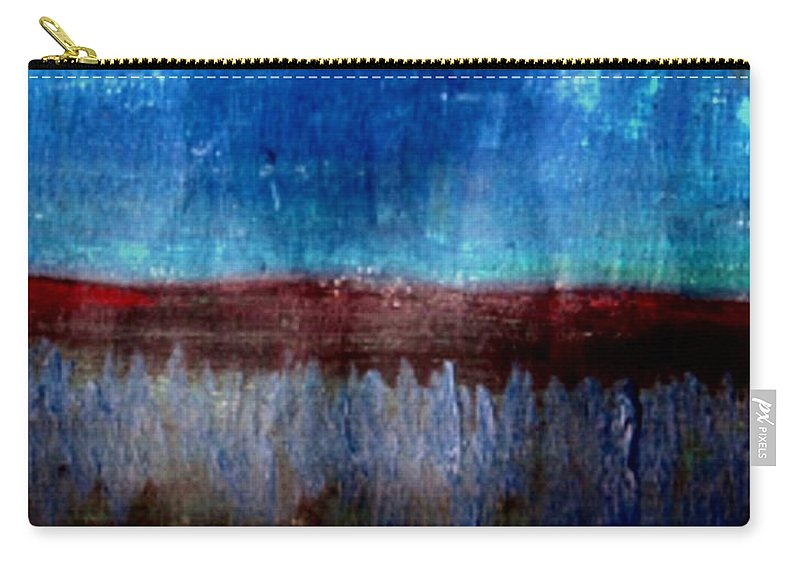 Flowers Carry-all Pouch featuring the painting The Flower Valley by Pepita Selles