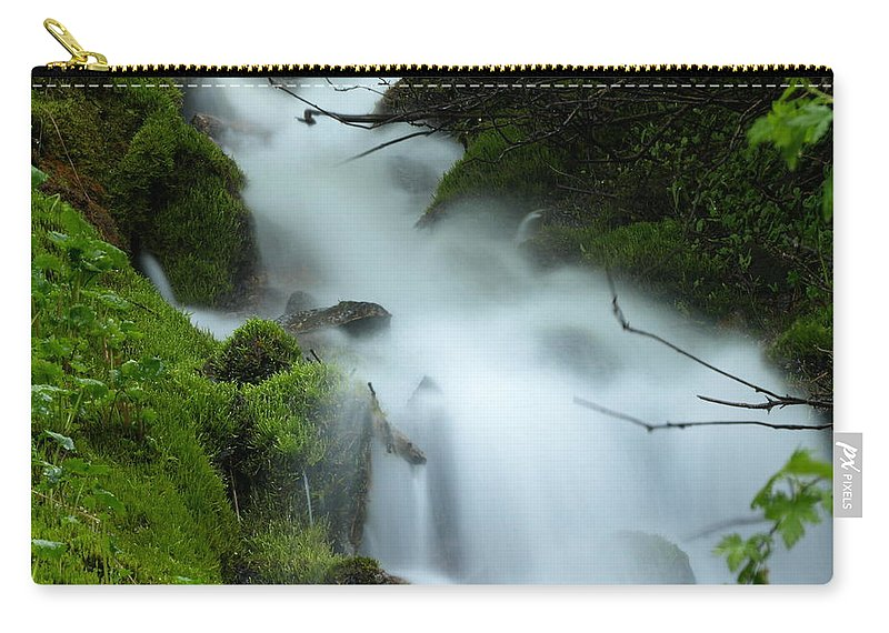 Water Carry-all Pouch featuring the photograph The Flowing Brook by DeeLon Merritt
