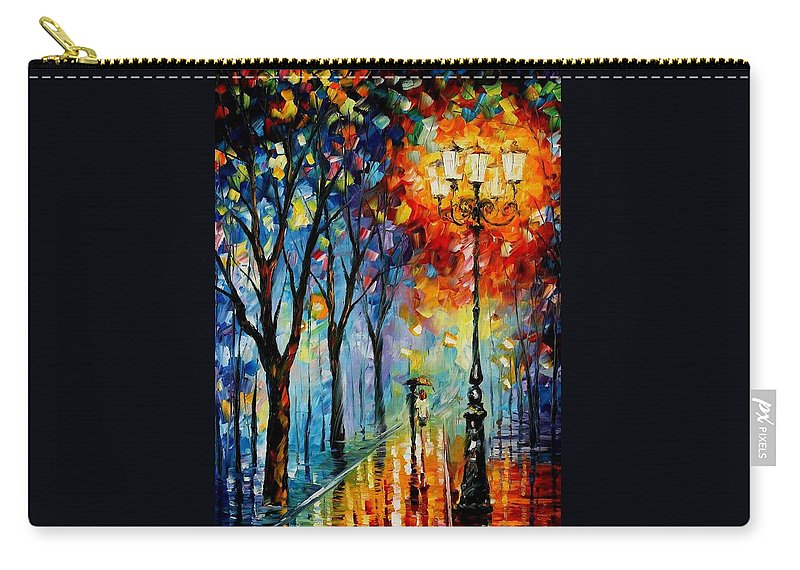 Afremov Carry-all Pouch featuring the painting The Fog Of Dreams by Leonid Afremov