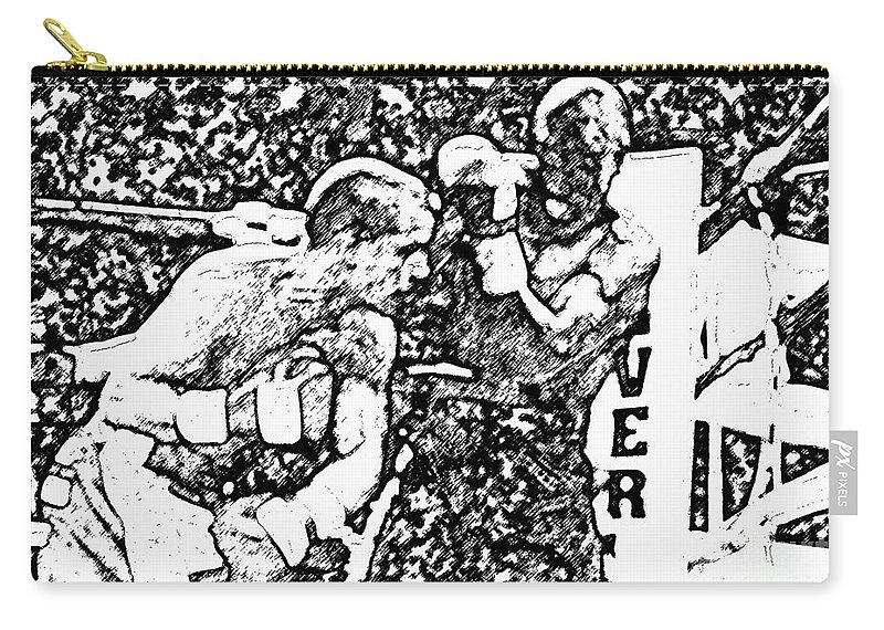 Prize Fighting.boxing Carry-all Pouch featuring the photograph The Follow Through by David Lee Thompson
