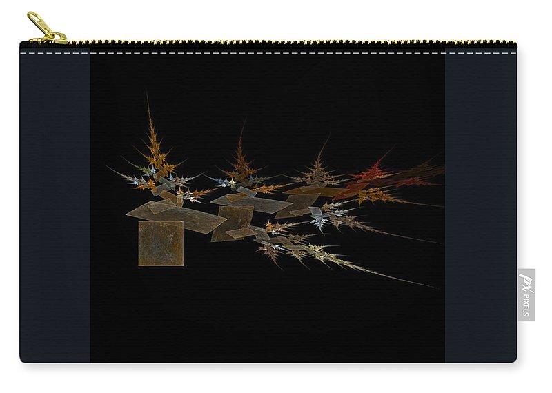 Digital Painting Carry-all Pouch featuring the digital art The Forest Dark And Deep by Jackie Mueller-Jones