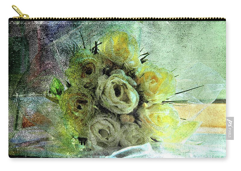 Forgotten Flowers Carry-all Pouch featuring the photograph The Forgotten Flowers by Susanne Van Hulst