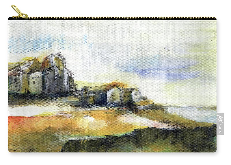 Abstract Landscape Carry-all Pouch featuring the painting The Fortress by Aniko Hencz