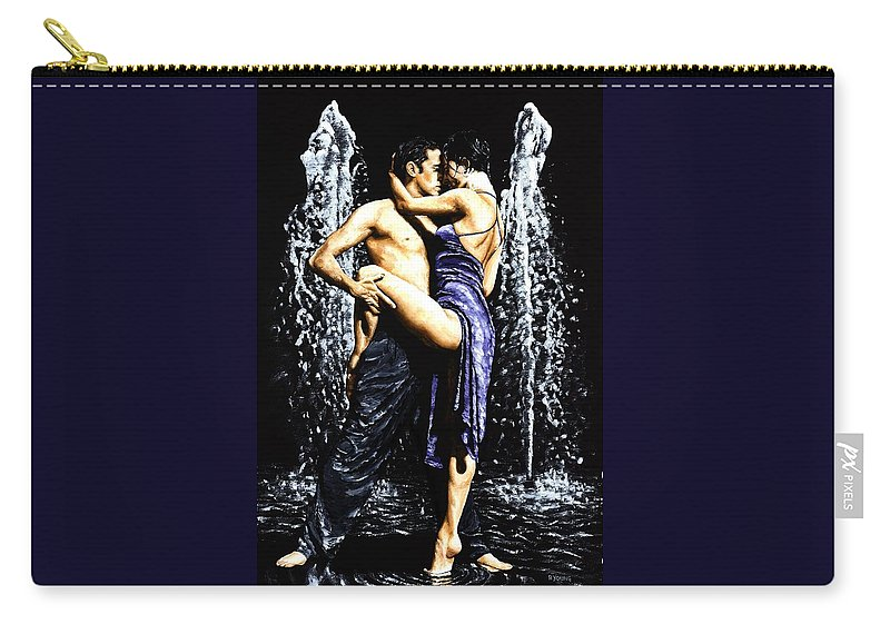 Tango Carry-all Pouch featuring the painting The Fountain of Tango by Richard Young