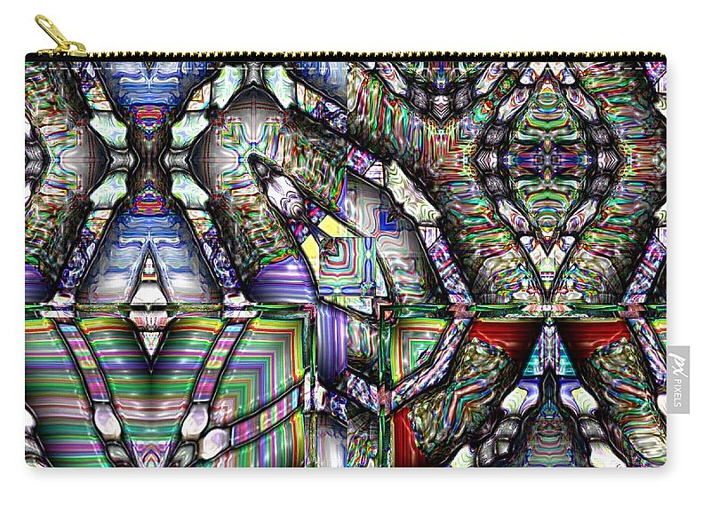 Abstract Carry-all Pouch featuring the painting The Four Horsemen Of The Apocalypse by RC deWinter