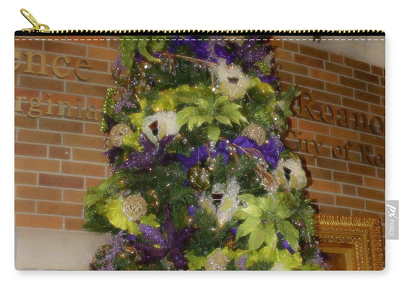 Christmas Carry-all Pouch featuring the photograph The French Thistle Tree Fashions For Evergreens Hotel Roanoke 2009 by Teresa Mucha